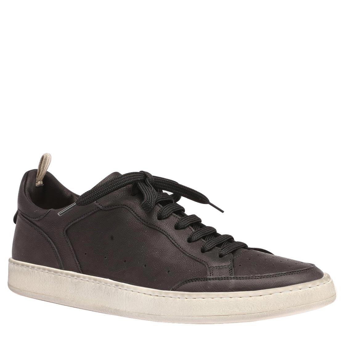 Officine Creative Kareem Dirty Black Leather Sneakers