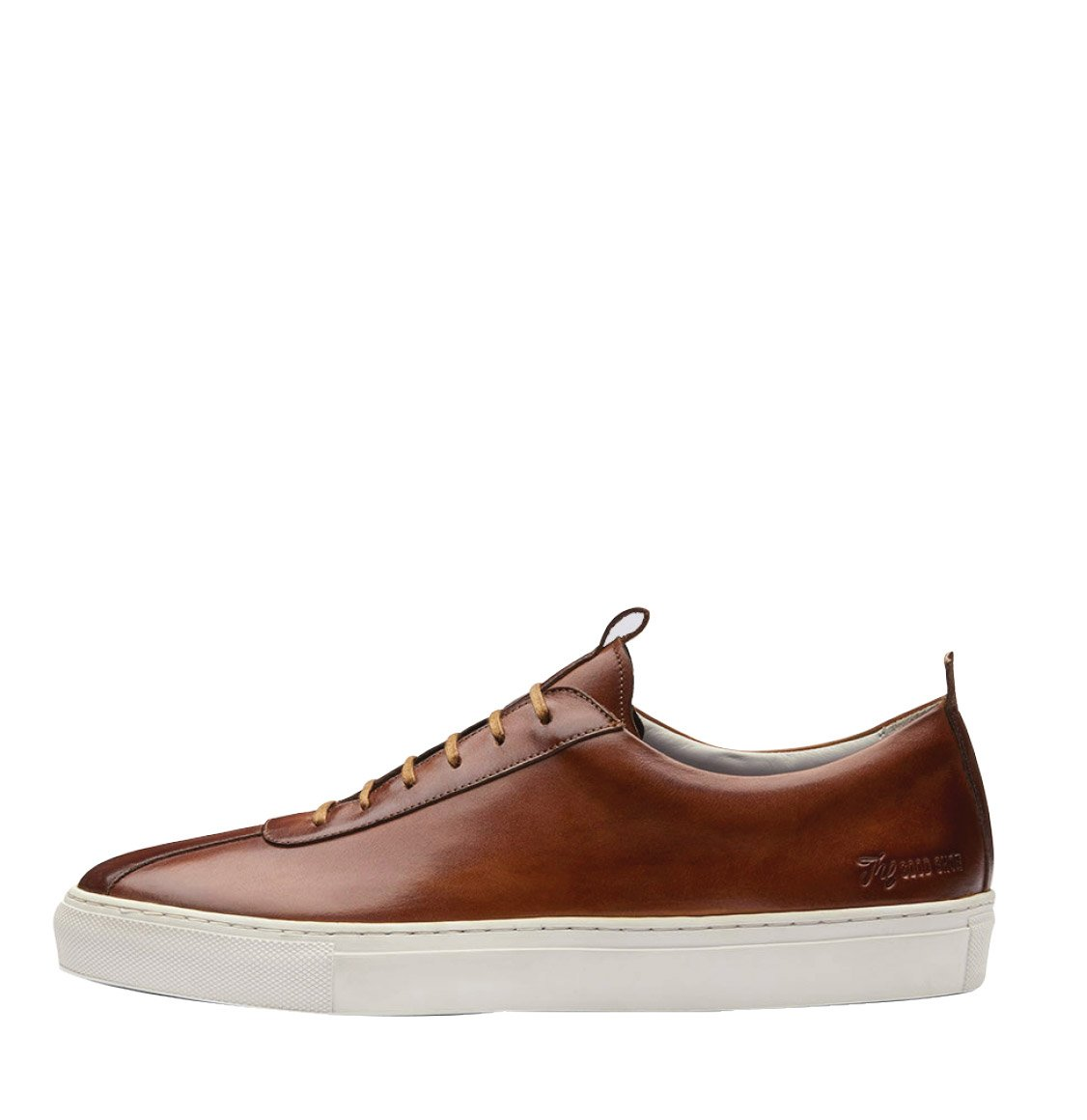 Grenson Tan Leather Handcrafted Oxford Sneaker