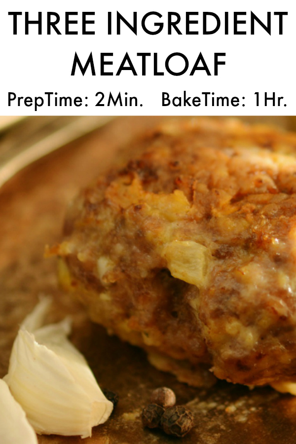3 Ingredient MeatLoaf (2 Minute Prep, 1 Hour Bake)