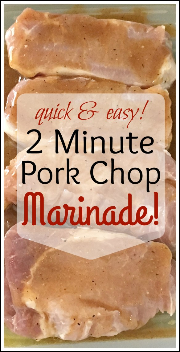 2 Minute Pork Chop Marinade! This is quick, easy, and delicious!