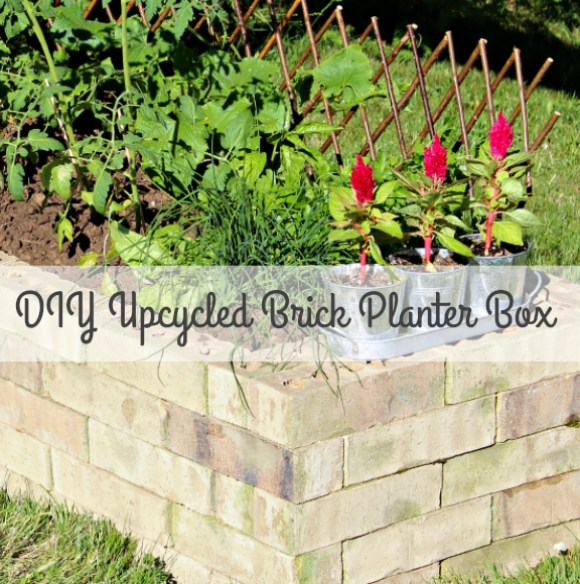 Diy Upcycled Brick Planter Box Theprojectpile Comtheprojectpile Com