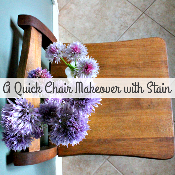A very easy, yet very dramatic chair makeover using stain!