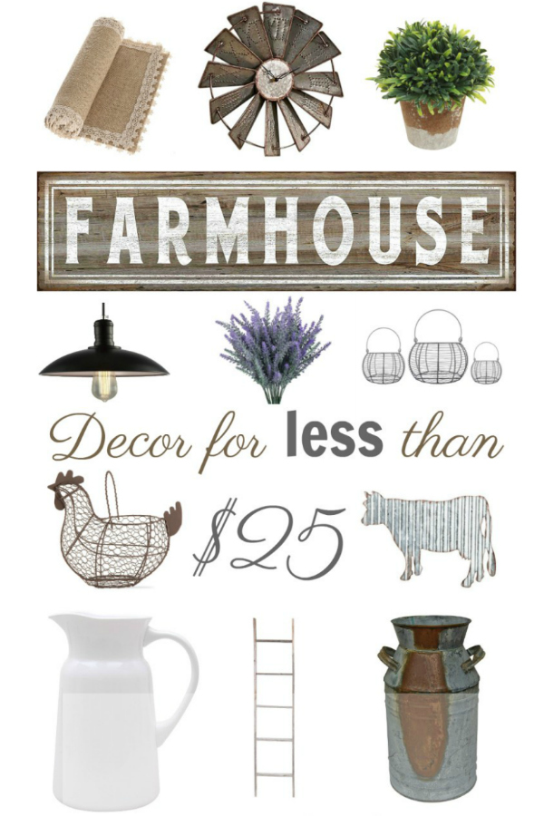 Gorgeous Farmhouse Decor for Less than $25