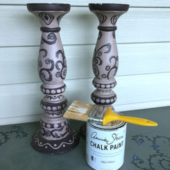 DIY Distressed Pillar Candle Holders for $6.99!