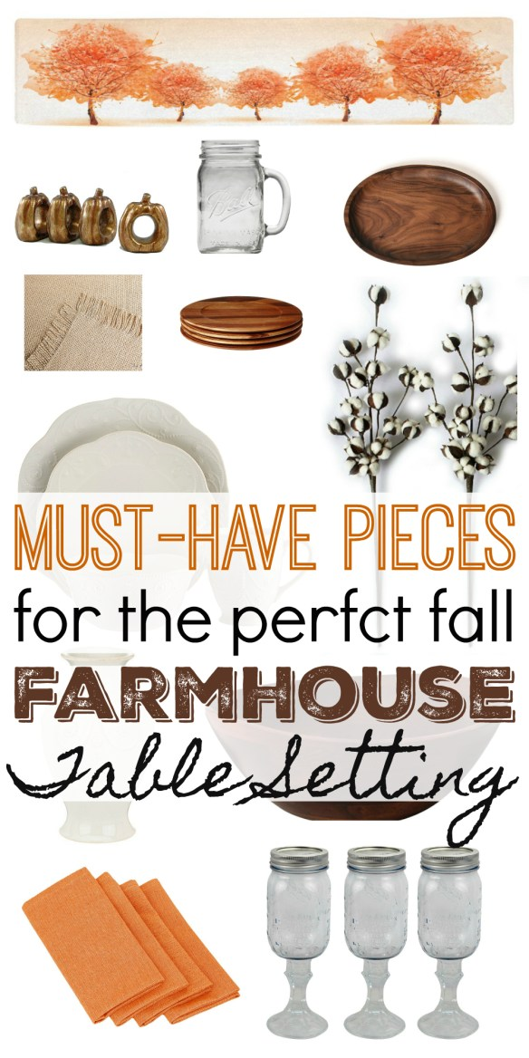 Must-Have Pieces for the Perfect Fall Farmhouse Table Setting!
