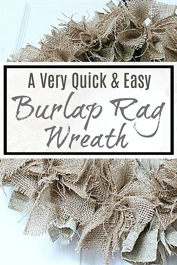 A Quick and Easy Burlap Rag Wreath Tutorial!