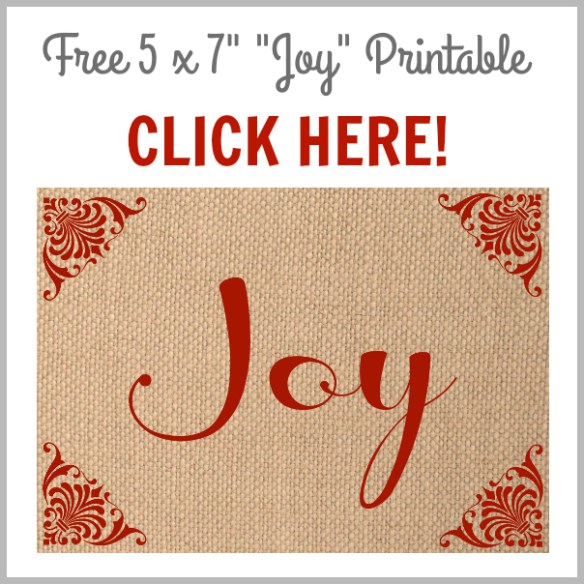Gorgeous Free Printable Burlap Set for Christmas!