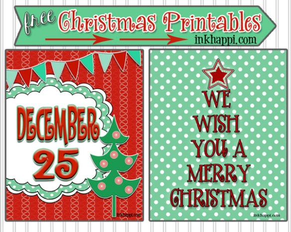 25+ Free Christmas Printables for Holiday Success!