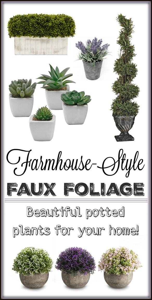 Beautiful Farmhouse-Style Faux Foliage for Your Home!
