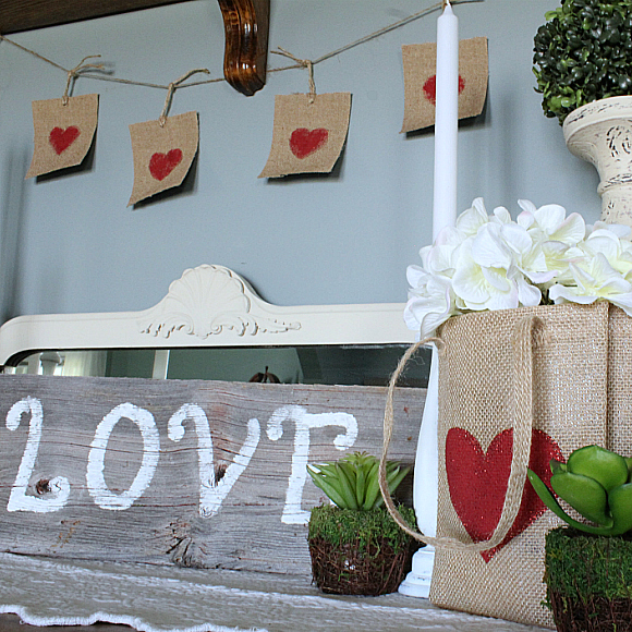 "Simple, Yet Effective, Rustic Valentine's Day Decor: Easy DIY ""Love"" Sign!"