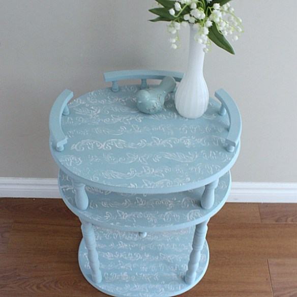 Transform An Ugly Table With A Simple Stamp!