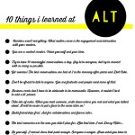 Alt Summit Recap 1: Lessons Learned