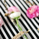DIY // Floral Glass Vial Place Cards