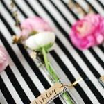 DIY // Floral Glass Vial Place Cards
