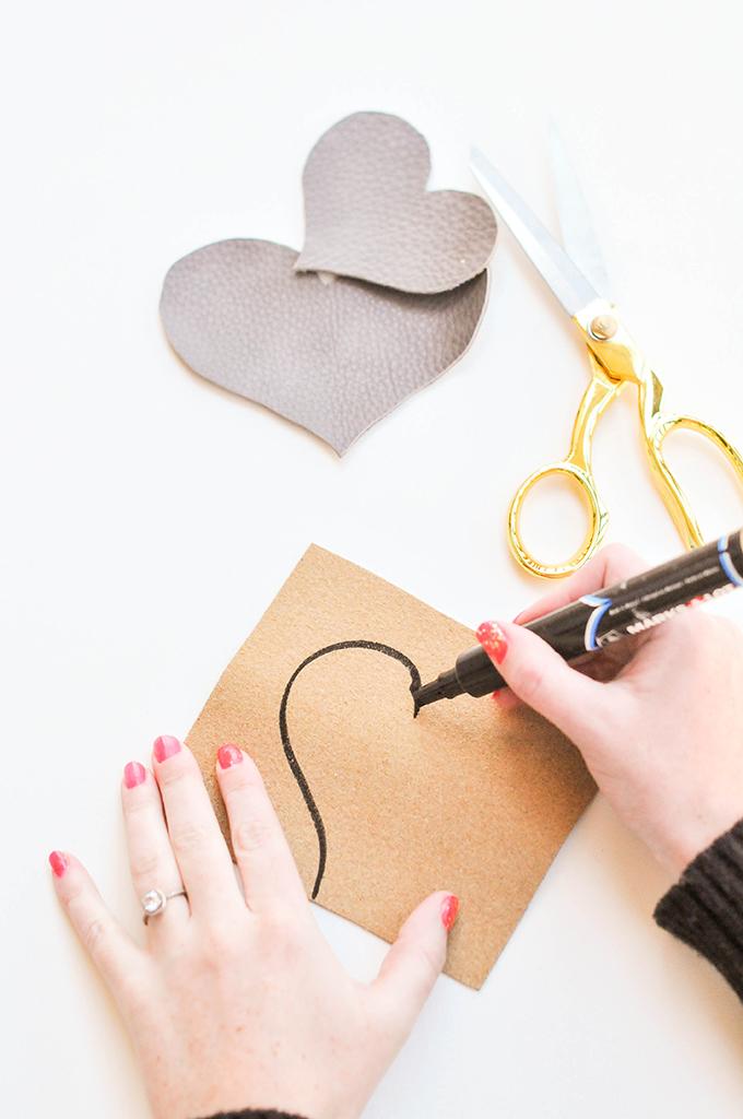 DIY Leather Heart Coasters