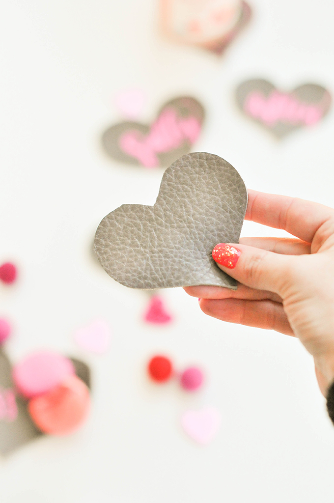 DIY Leather Heart Coasters