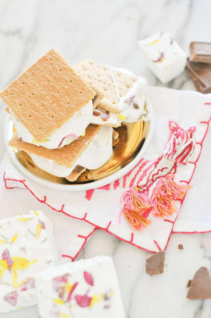 Floral Marshmallow S'mores