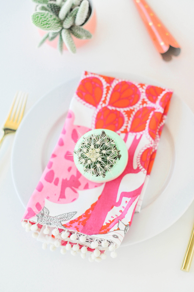 pompom napkins