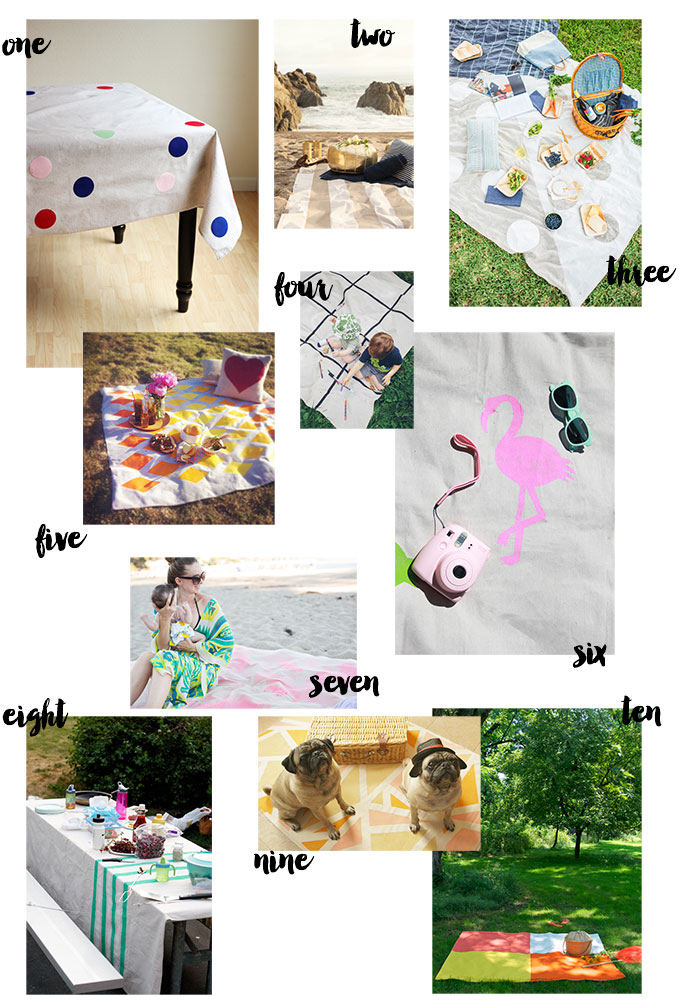 10 diy picnic blankets for summer