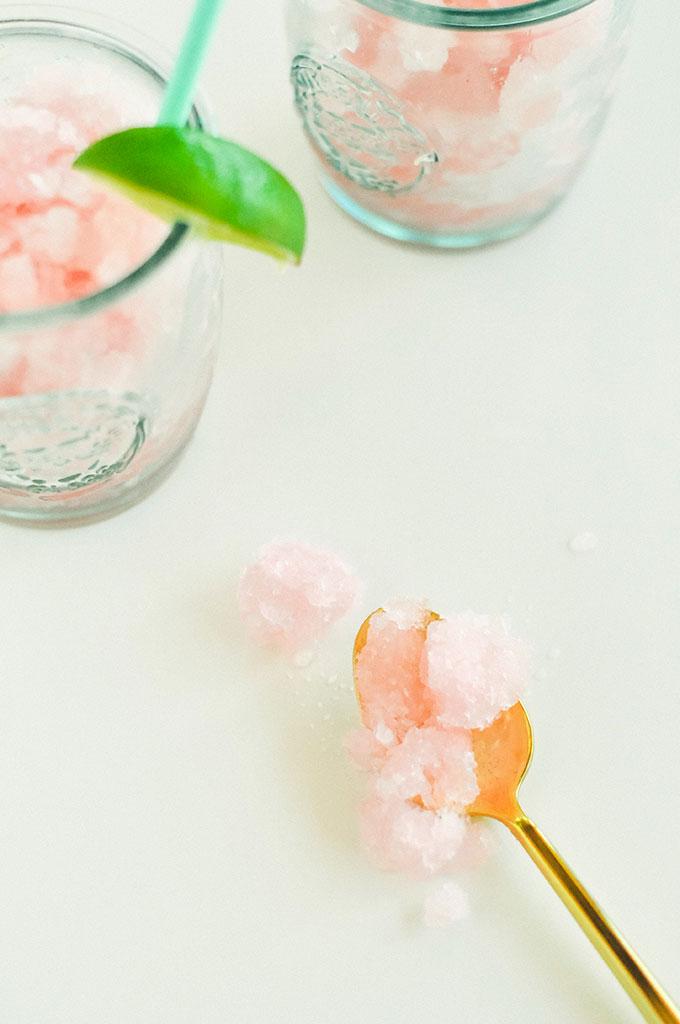 Homemade Raspberry Lemonade Granita