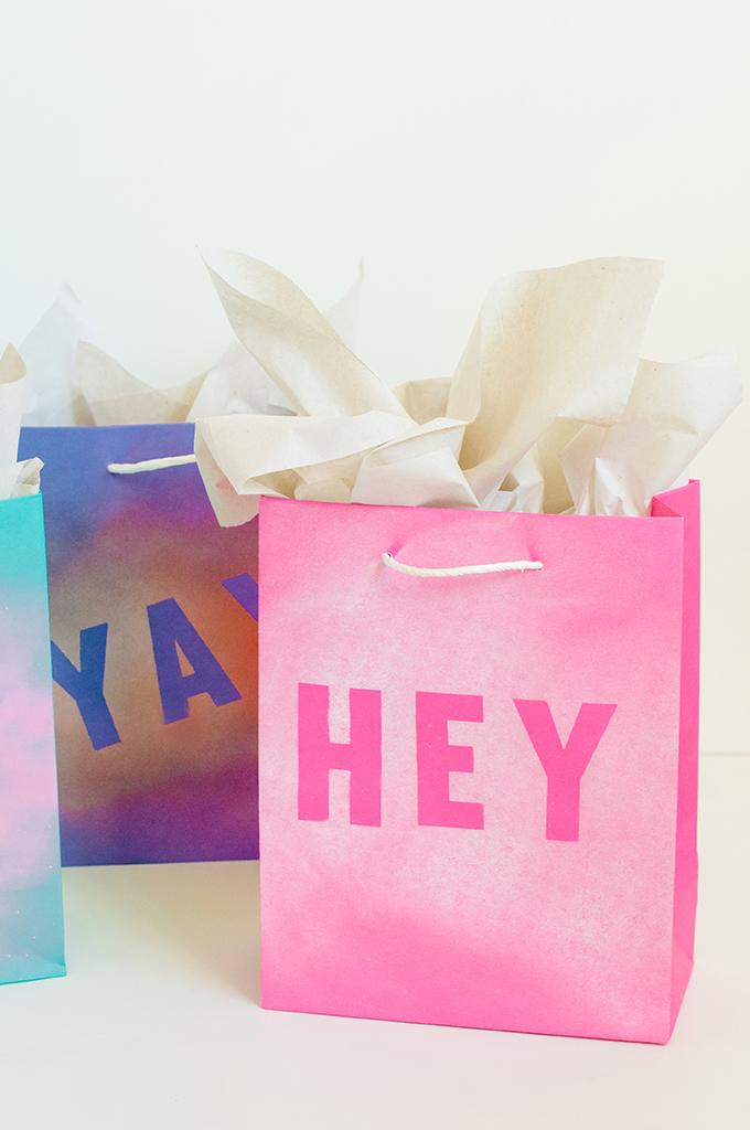 DIY Stenciled Gift Bags - PROPER