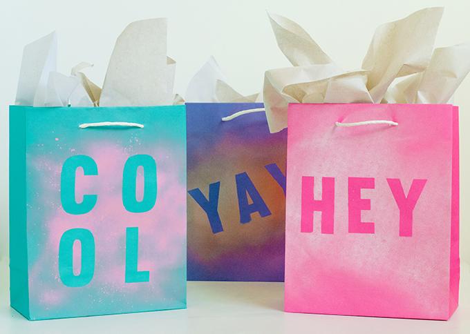 DIY Stenciled Gift Bags