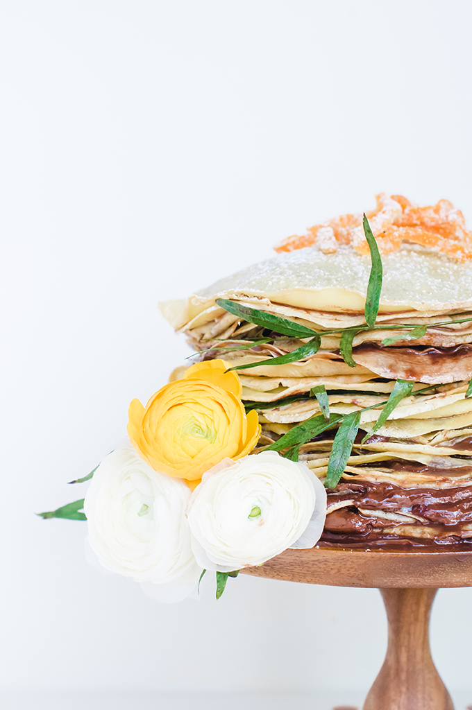 Taste It \\ Nutella Crepe Cake with Candied Citrus Zest