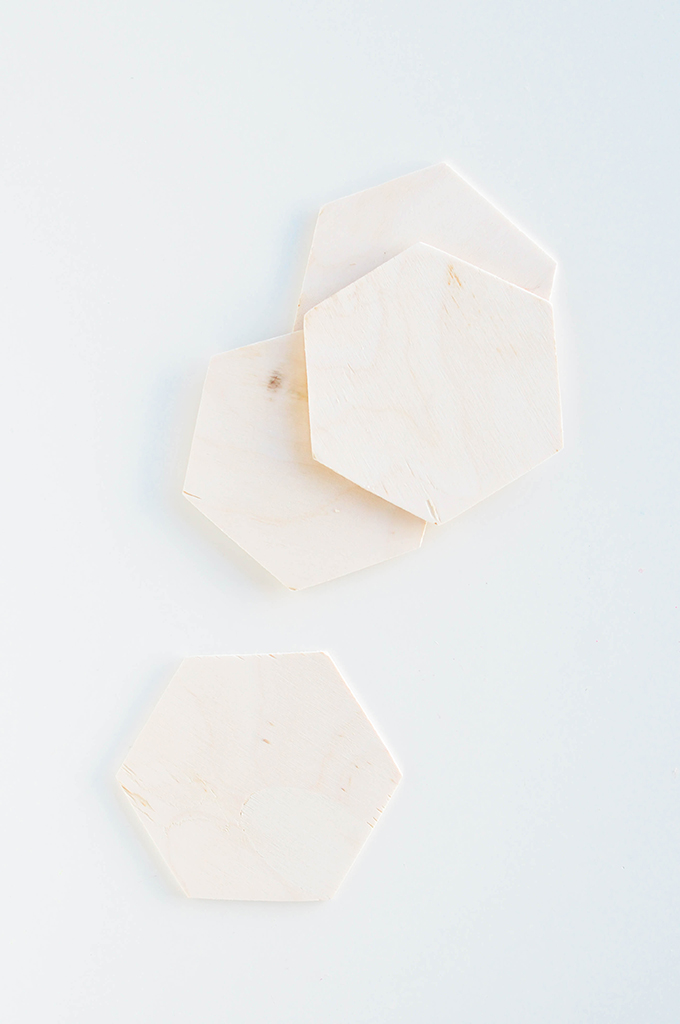 DIY geometric coasters