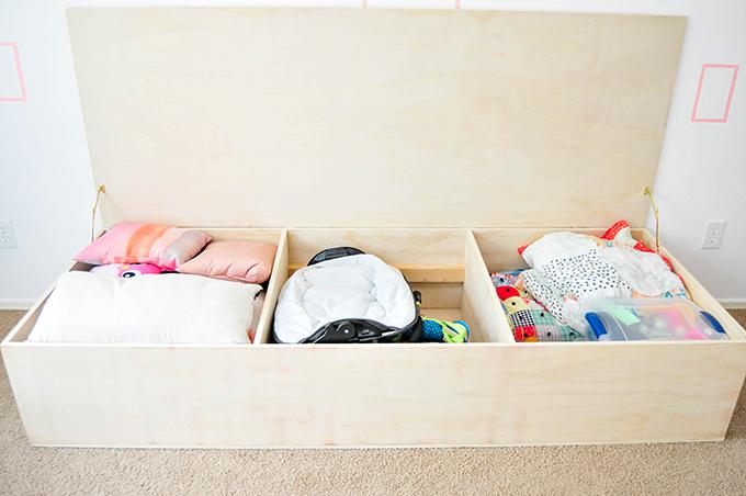 DIY Minimalist Storage Daybed
