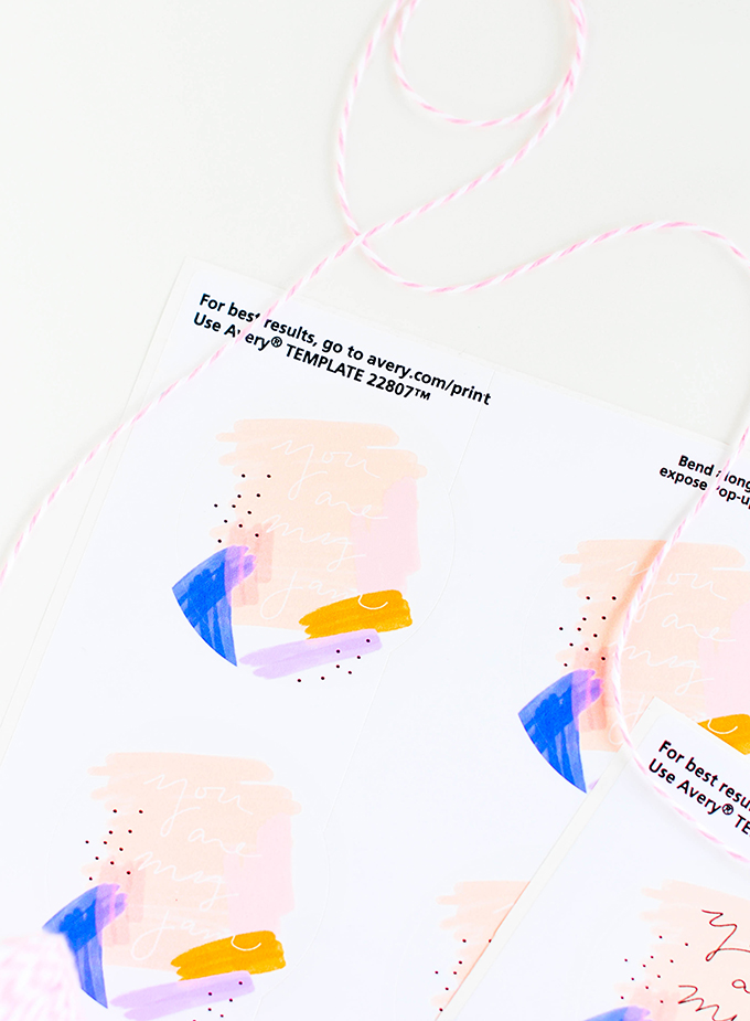 Painterly Printable Jam Labels