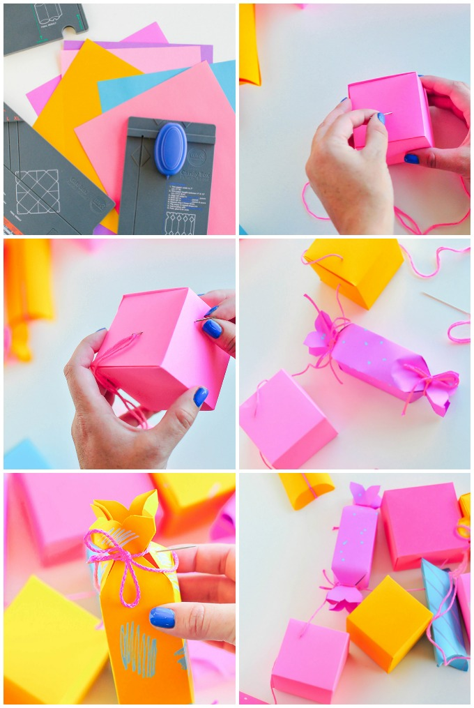 DIY Paper Gift Box Garland