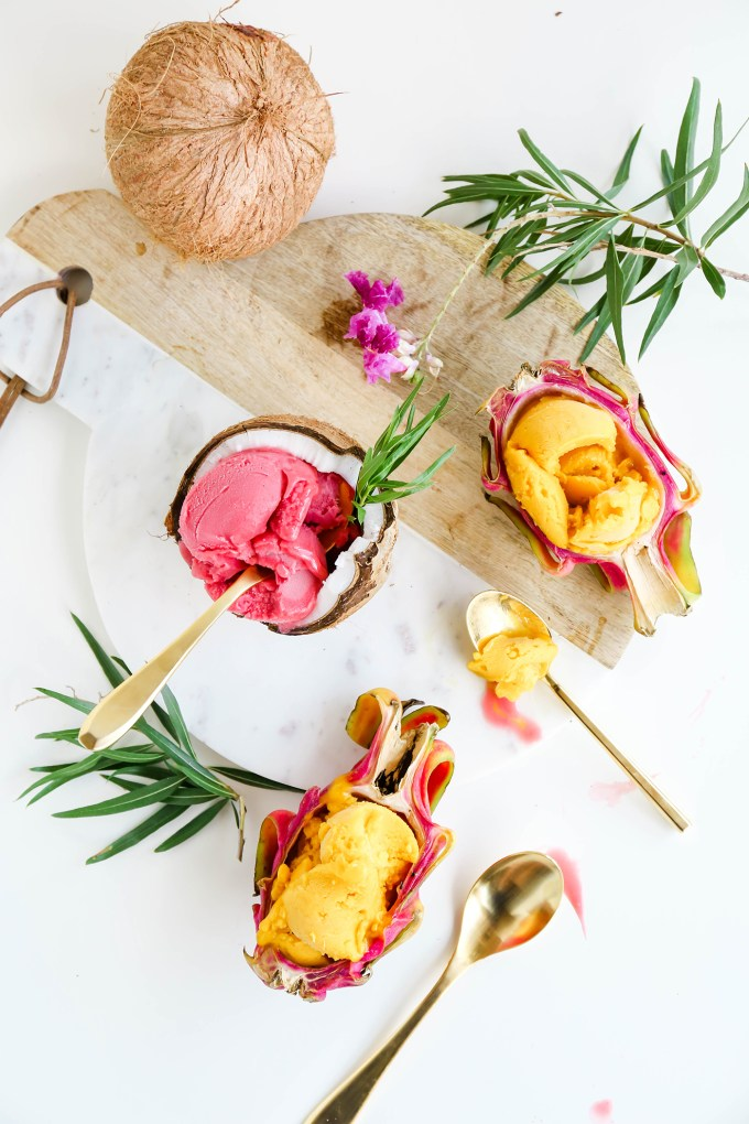 Assorted Fruit Sorbet Bowls || www.theproperblog.com