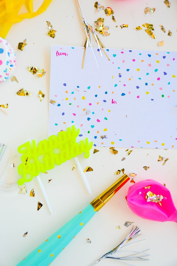 Colorful Party Shipping Label Printable || www.theproperblog.com