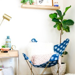 Butterfly Chair Covers Diy And A Half Leather Recliner Make This  Makeover In One Afternoon