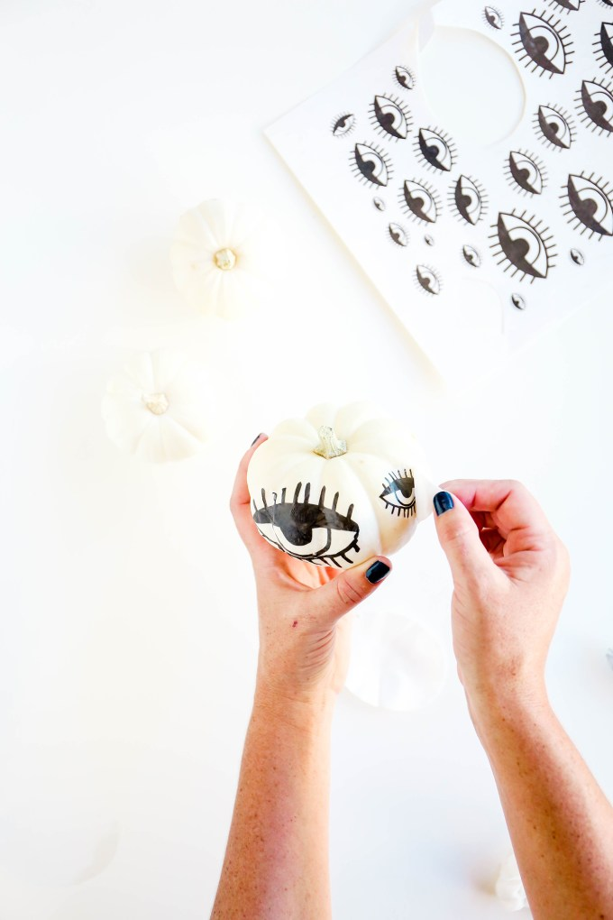 DIY Tattooed Pumpkins with Printable Eyes