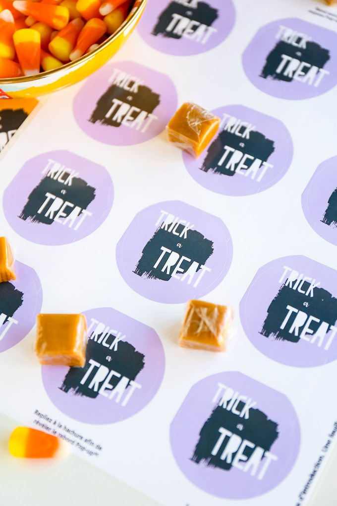 Trick Or Treat Stickers To Dress Up Your Halloween Treats