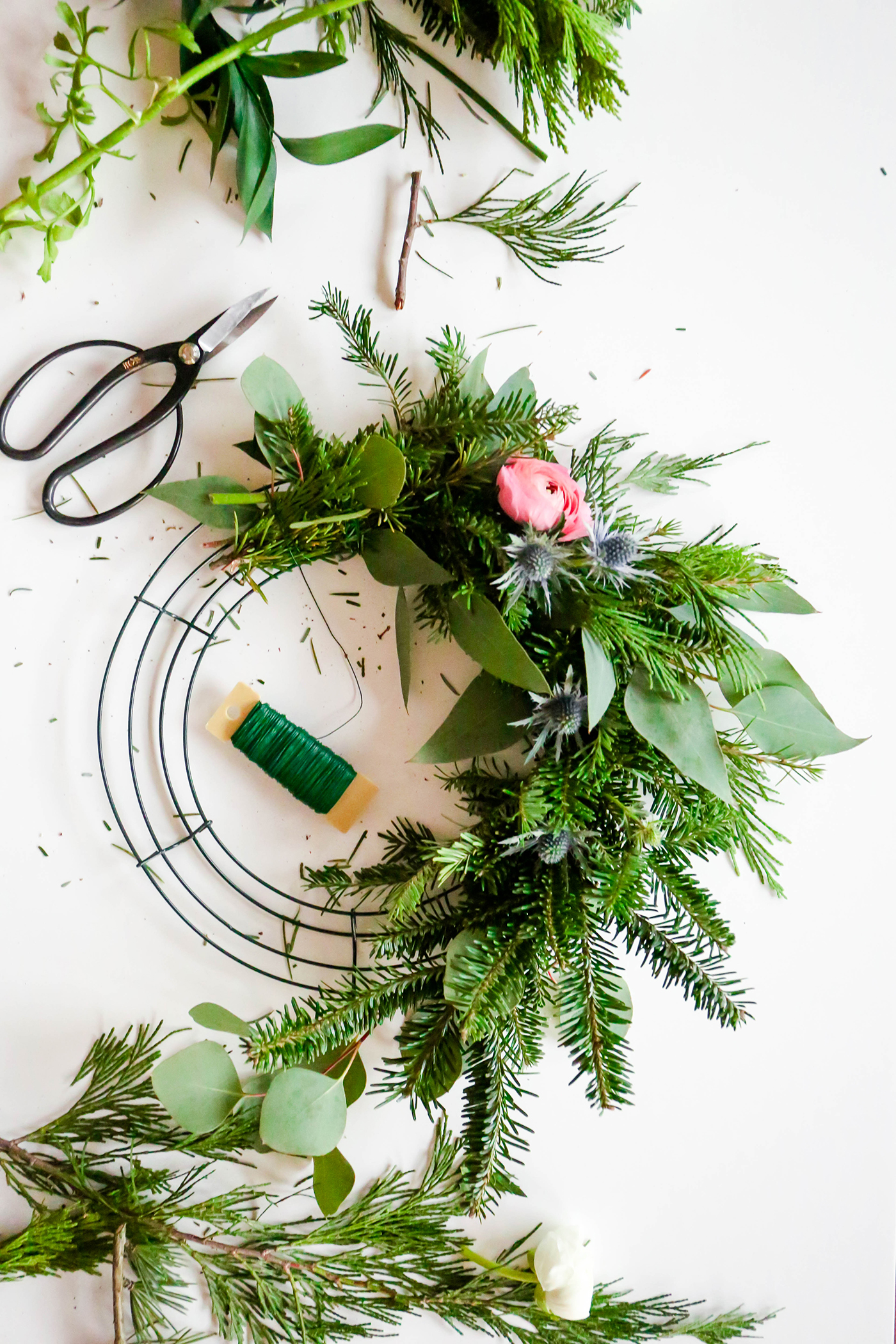 diy wreath u0026 a recap of the holiday wreath workshop