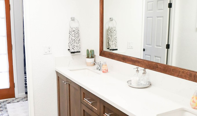 #ProperAtHome \\ Our DIY Weekend Guest Bath Renovation