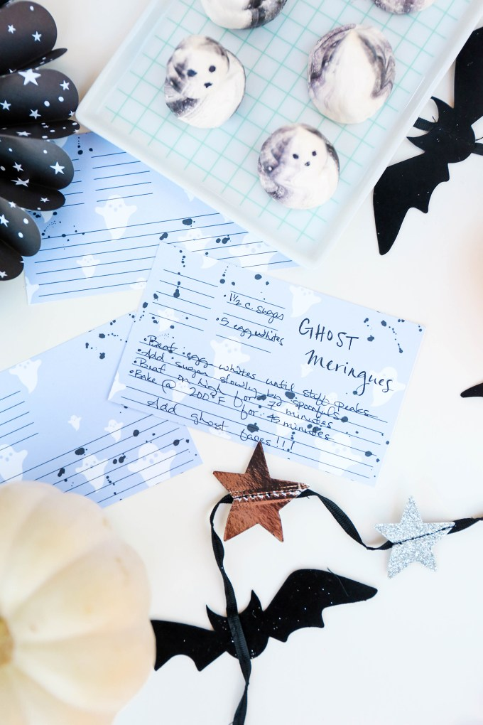 #ProperPrintables \\ Ghosty Printable Recipe Cards