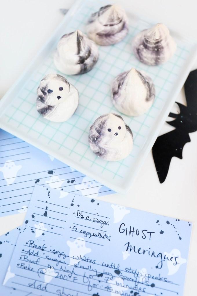#ProperPrintables \\ Ghosty Printable Recipe Cards