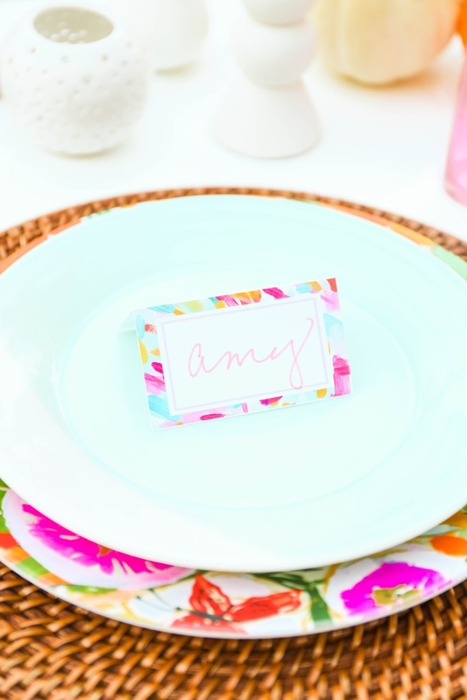 #ProperPrintables \\ Painterly Place cards Perfect For Thanksgiving