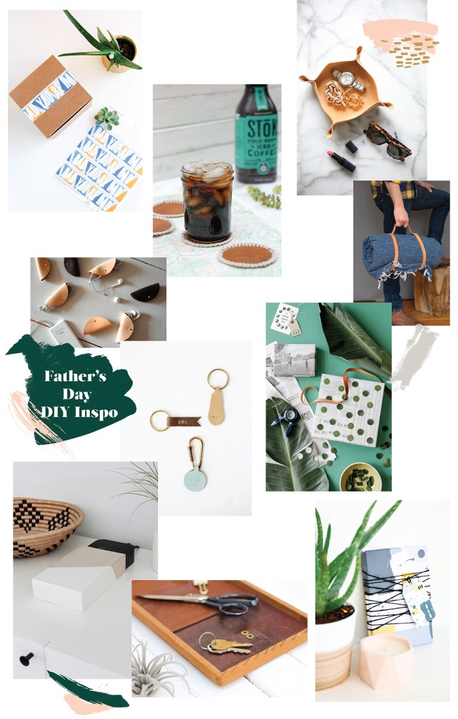 a roundup of last minute father's day #diy projects made with leather and paper