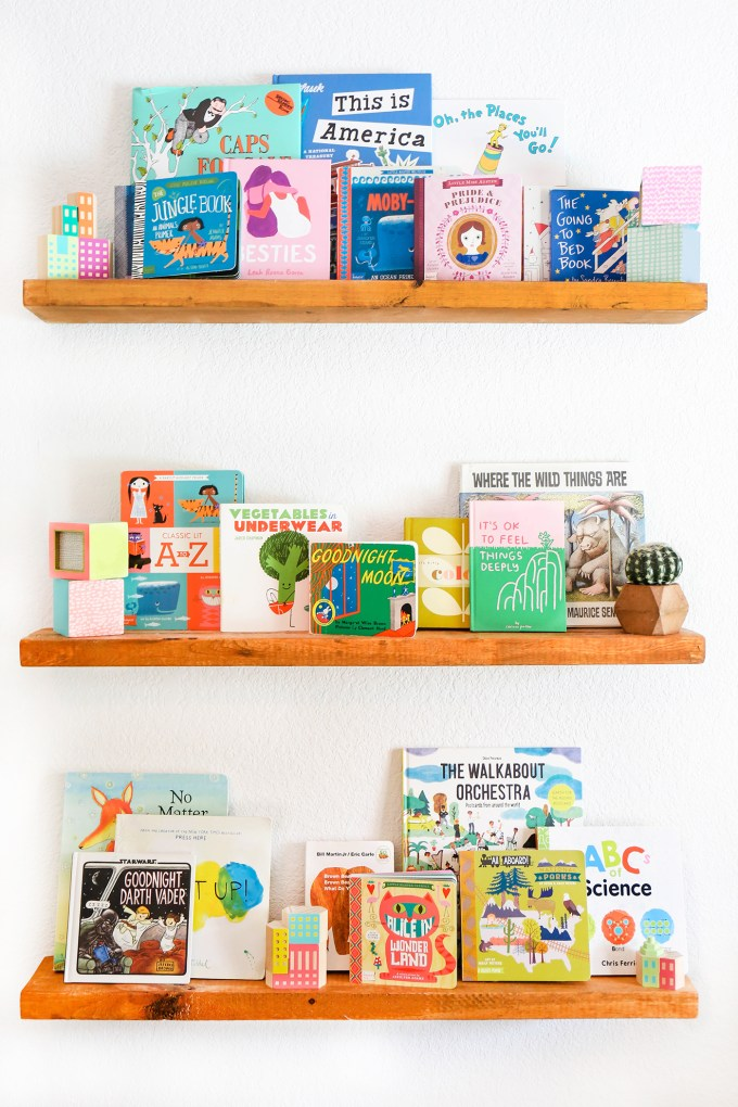 shelves with children's books
