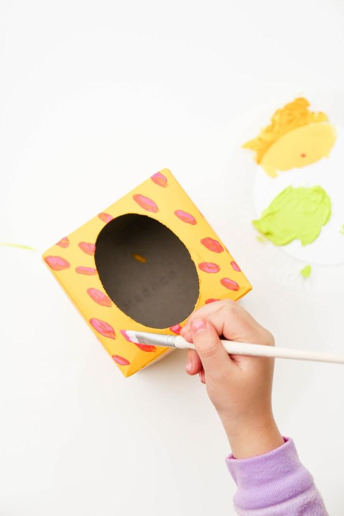 painting kleenex box