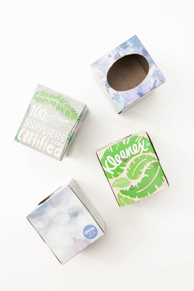 upcycled kleenex boxes