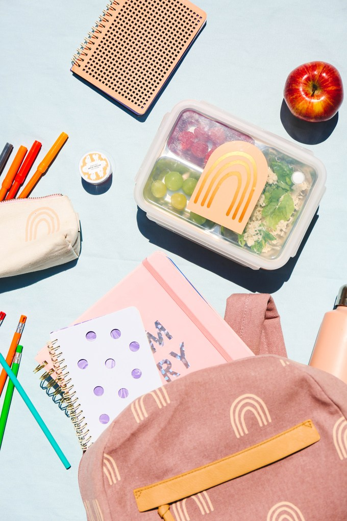 flatlay of back to school accessories