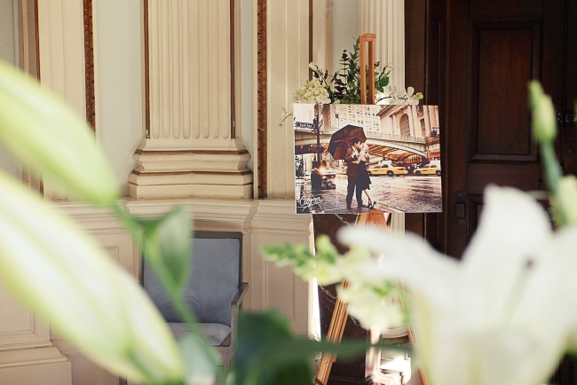 Art themed marriage proposal planned by proposal experts The Proposers.