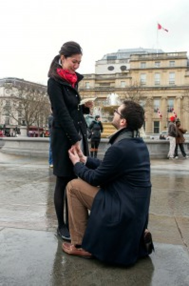 Here he is down on one knee!