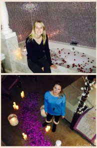 Proposal planners Daisy and Amy preparing the room
