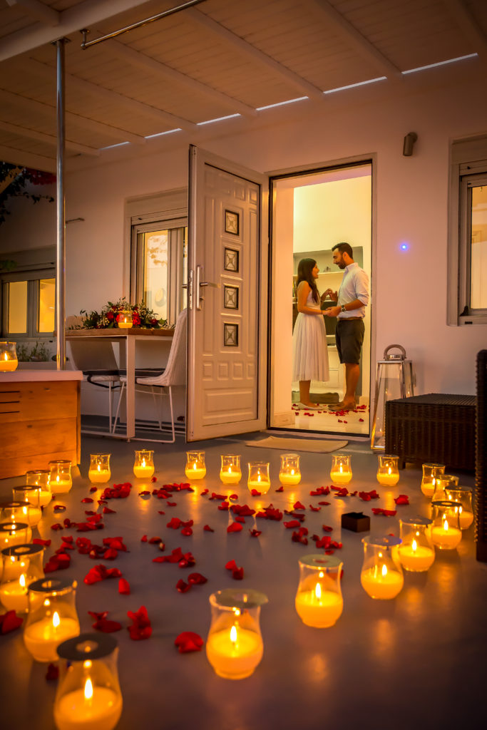 Marriage Proposal in Santorini planned by proposal experts, The Proposers